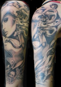 Medusa gorgona artwork tattoo